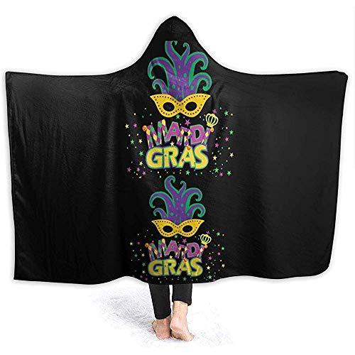 Henry Anthony Karneval Maske Party Flanell Fleece Hoodie Decke werfen tragbare kuscheln super weiche warme gemütliche 50 x 40 Zoll