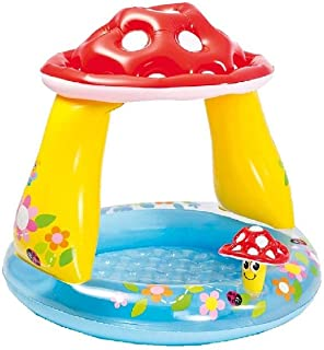 Intex-57114 Piscina hinchable champiñón, multicolor, 102 x