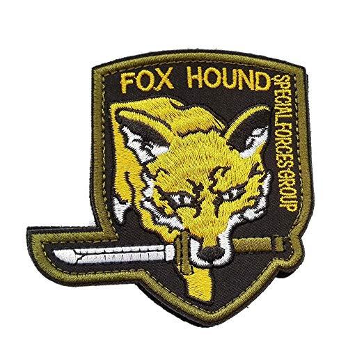 Ohrong Fox Hound Parche táctico bordado Moral Gear sólido MGS Insignia del Grupo Especial de la Fuerza Armband Insignia Airsoft Paintball con gancho y bucle