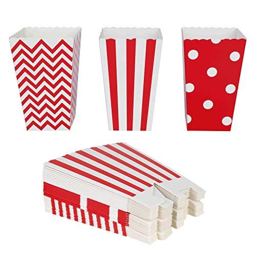 QIMEI-SHOP Scatole di Popcorn 36PCS Contenitori di Popcorn Contenitori di Caramelle per Spuntini del Partito Dolci Popcorn e Regali