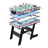 LiChenYao Indoor-Pool Spieltisch Sets Inklusive Billard, Airhockey, Kicker, Tischtennis, Tisch Große Geschenk Unterhaltung for Jungen Und Mädchen