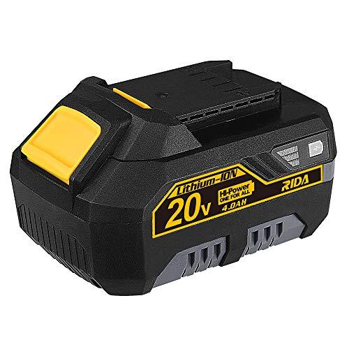 RIDA 20V Power Tool Battery,Lithium-ion,4000mAh