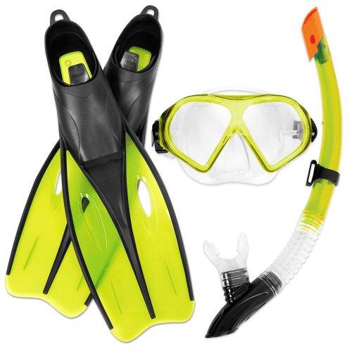 Bestway Dream Diver Schnorchelset Flossen - Maske - Schnorchel Größe 38-39 Gelb