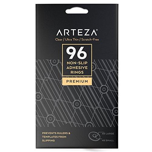 ARTEZA Anti Rutsch Pads, 96x Rutschhemmende Pads, Silikon Klebepunkte, Gumminoppen selbstklebend und vielfältig einsetzbar