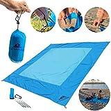 Big Blue Beach Blanket - Water, Sand, Wind Resistant - Parachute Nylon -...