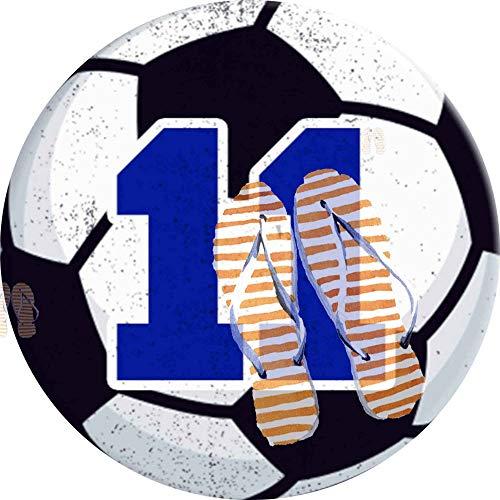 PEIGJH Alfombra De área Redonda Moderno Antideslizante Sala De Estar Dormitorio Baño Cocina Suave Alfombra Alfombra, 60cm, Número 11 Balón de fútbol Jugador de fútbol