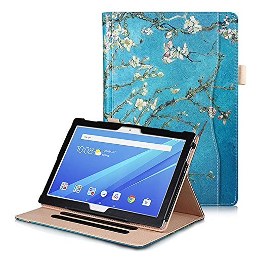Robustrion Smart Multipurpose Folio Flip Stand Case Cover for Lenovo Tab M10/M10 HD/M10 FHD Rel 10.1 inch - Aqua (Will not fit FHD Plus 10.3 inch)