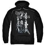 Trevco Hoodie: Edward Scissorhands- Hello Pullover Hoodie Size L Black