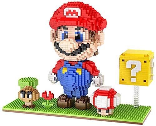 LNLJ Super Mario Bausteine Mini Micro Ziegelsteine Kinderspielzeug Für Geschenk,Rot