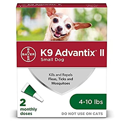 Bayer K9 Advantix II Flea, Tick and Mosquito Prevention for Small Dogs, 4 - 10 lb, 2 doses by Bayer