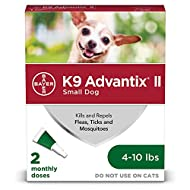 K9 Advantix II Flea and Tick Prevention for Small Dogs, 4-10 Pounds