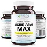 Vision Alive Max with 8 Natural Ingredients Lutemax® 2020, Bilberries, Blueberries, c3g from Black Currant, Maqui Berry, Saffron, and Astaxanthin