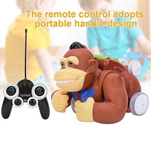 Rosvola Modello di Auto acrobatica elettrica Orangutan Telecomando con Giocattolo per Bambini Effetto Luce e Suono, Auto elettrica acrobatica telecomandata Altamente Simulazione