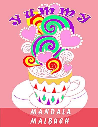 MANDALA MALBUCH: ausmalbücher für erwachsene ,Obst, Eis ...,(malbuch blumen)(malbuch für erwachsene)malbuch für kinder