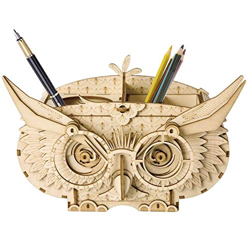 Rolife Woodcraft Kits 3D Wooden Puzzle Educational Toy Gift For Kids, Teens and Adult (Owl Shortage Box)