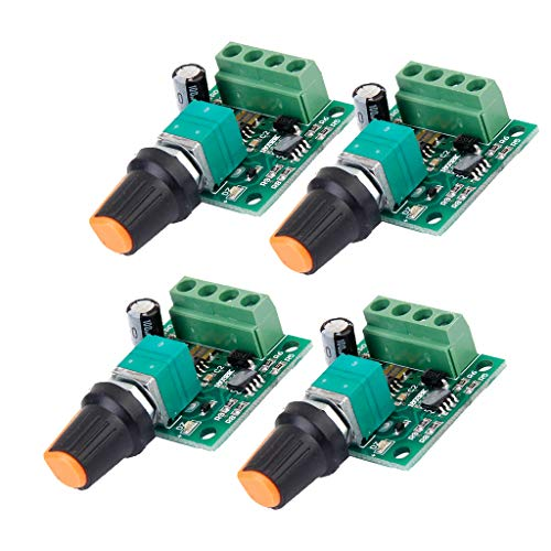 joyMerit 4pcs Volt DC 1.8V 3V 5V 6V 12V 2A Controlador de Velocidad Del Motor PWM Interruptor de Ajuste
