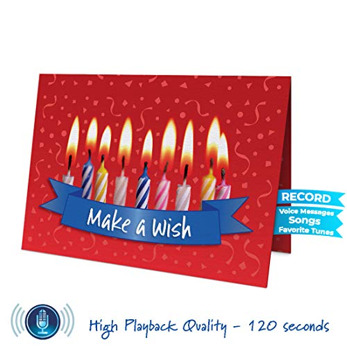 Musical Birthday Card   Personalized Happy Birthday Singing Card   120 Seconds Recording   Recordable with Voice Messages, Jingles, Songs  Birthday Cards for Mom, Dad, Boyfriend, Girlfriend, etc