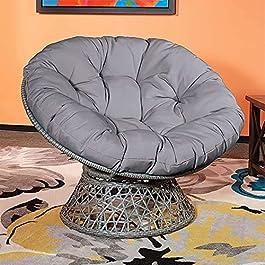 BSLY Coussin de Chaise de Balançoire Panier Suspendu – Épaissir Confortable Tissu Coussin pour Fauteuil Rotin – Ronde…