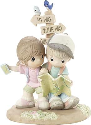 Precious Moments Couple Lost with Map Figurine, Multi