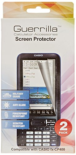 Guerrilla Military Grade Screen Protector for Casio Classpad Graphing Calculator, 2-Pack