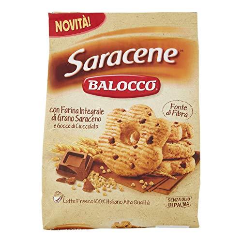 Balocco Saracene Biscotti con grano saraceno e gocce di cioccolato Kekse mit Buchweizen und Schokoladenstückchen biscuits cookies 100% Italienische Kekse 700g