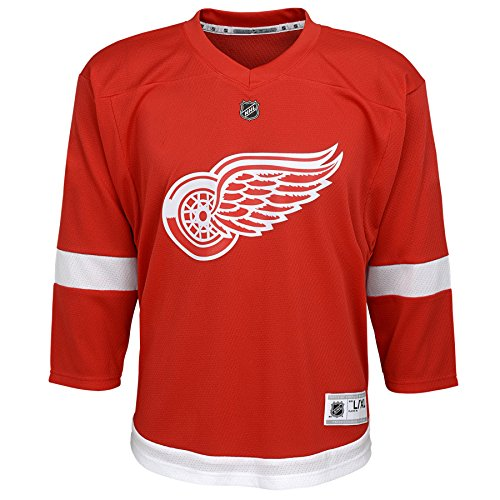 Outerstuff Youth NHL Replica Home-Team Jersey Detroit Red Wings, Dark Red, Small/Medium (6-10)