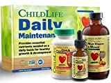 ChildLife Daily Maintenance Kit | Vitamin Supplement for Infants, Baby, Toddlers, Kids and Teens, Contains Liquid Multivitamin, Minerals, DHA, Vitamin D, C, B 12, Magnesium, Folic Acid