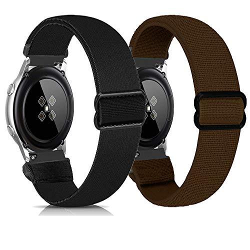Zoholl Sport Bands compatibles con Samsung Galaxy Watch 46mm/Gear S3/Huawei GT 2 Correa de Reloj Correa Suave de liberación rápida de Repuesto Correas Deportivas Transpirables(22mm Negro+marrón)