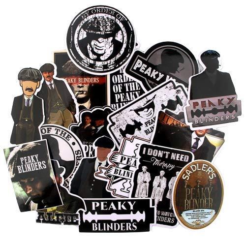 PSL 18pcs Peaky Blinders Movie Punk Sticker for DIY Phone Luggage Laptop Motorcycle Phone Waterproof Sticker