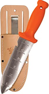 A.M. Leonard Deluxe Soil Knife & Leather Sheath Combo – Hori Hori w/ 6-Inch Stainless Steel Blade