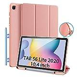DUX DUCIS Funda para Samsung Galaxy Tab S6 Lite 10.4 (P610 / P615) 2020, TPU Suave Estuche de protección magnética Delgada con Soporte para S Pen para Tab S6 Lite 10.4 Pulgadas, color Rosado