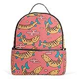 Muskie Japan - Mochila roja para mujer, adolescente y niña, bolso de moda, bolsa de libros, para viajes, universidad, casual, para niños preescolares, regreso a casa, suministros mini