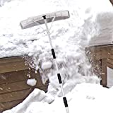 Goplus 21' Snow Roof Rake, Twist-N-Lock Adjustable Snow Shovel with 6' x 25' Blade, Roof Snow Removal Tool
