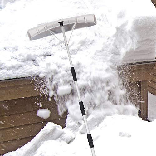 Buy Bargain Goplus 21' Snow Roof Rake, Twist-N-Lock Adjustable Snow Shovel with 6 x 25 Blade, Roof...