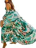 Veggicy Women's Swimsuit Beach Cover Up Kimonos for Women Long Bikini Beach Cover Ups for Swimwear Green