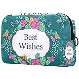 Bolso cosmético impermeable lindo de la moda de las mujeres del regalo de la muchacha, flor