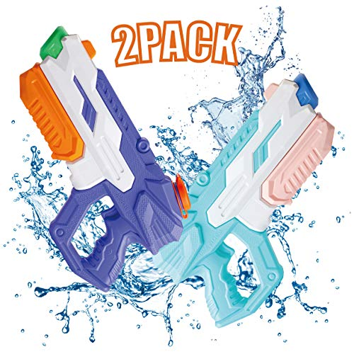 IONCAT Water Guns for Kids, 2 Pack Super Squirt Guns, Water Soaker Blaster, 650CC High Capacity, 35 Feet Long Shooting Range, Gifts for Children & Adult Summer Swimming Pool Beach Water Fighting Party