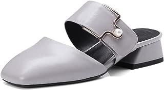 Nine Seven Women's Leather RoundToe Lowheel Slide
