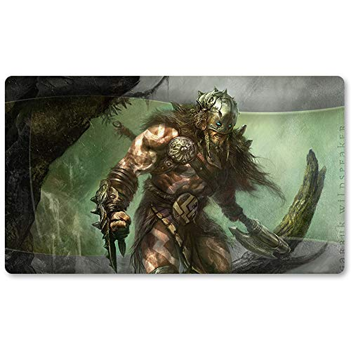 Garruk Wildspeake - Playmat, MTG Playmat,Magic Gathering Playmats, Board Games Anime playmat,Custom Table Pad, Free Waterproof Bag,Playmats for Yu-Gi-Oh Digimon MTG, Size 60350.2CM