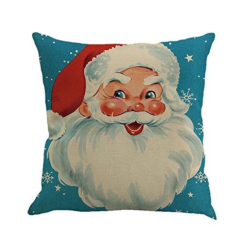 AMhomely Decoraciones navideñas, fundas de cojín para sofá, cama, decoración del hogar, decoración de almohada, decoración de Navidad, decoración de fiesta, regalos