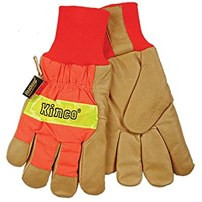 Kinco 0 Pigskin Knit Wrist Work Gloves