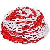 vidaXL Cadena de Advertencia de Seguridad Tráfico Plástico Roja y Blanca 30 m