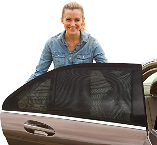 Shade Sox Universal Car Side Window Baby Sun Shade (2pc)   Protects Baby and Kids from the Sun  Fits All (99%) Cars Most SUV's   Travel ebook included!