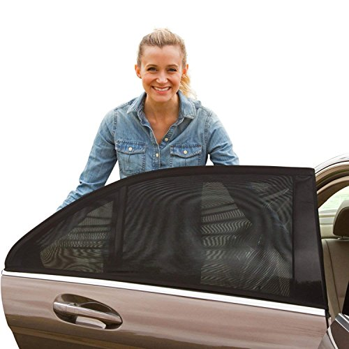Shade Sox Universal Car Side Window Baby Sun Shade (2pc) | Protects Baby and Kids from the Sun| Fits All (99%) Cars Most SUV's | Travel ebook included!
