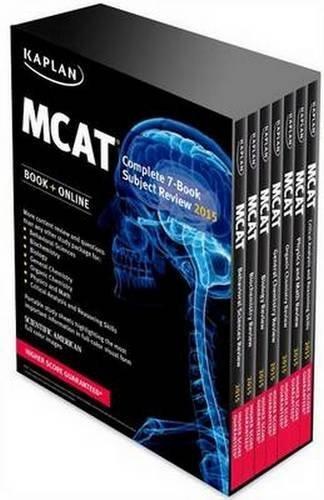 Kaplan MCAT Complete 7-Book Subject Review: Created for MCAT 2015 (Kaplan Test Prep) by Kaplan (2014-07-01) Paperback
