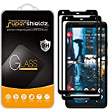 (2 Pack) Supershieldz for Google (Pixel 2 XL) Tempered Glass Screen Protector, (Full Screen Coverage) 0.32mm, Anti Scratch, Bubble Free (Black)