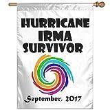 Eriesy Flagge Fahnen Hurricane Irma Survivor 2017 Original Art Flag Garden Flag Family Flag Party Flag 100% Polyester Fiber Vertical Indoor Flag