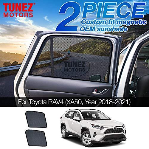 Tunez Sombrillas para ventana lateral personalizadas, parasol magnético para puerta trasera (compatible con Toyota RAV4, XA50 año 2018-2021)