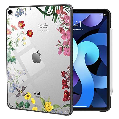 Dadanism iPad Air 4th Generation iPad Air 4 Case 2020 iPad 10.9 inch, Flexible TPU Air-Pillow Edge Bumper Cushion Slim Transparent Cover Shell, Support Apple Pencil Charging, Fairy Flowers