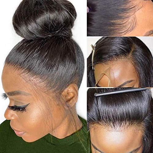 Singlebest 360 Lace Fontal Wigs Cap Perruque Meches Ondulé Femme Naturelle Brésilien 150% Densité Human Hair (20\